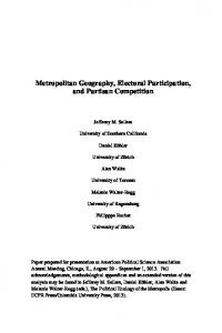 Metropolitan Geography, Electoral Participation, and Partisan ...