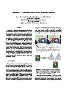 MEVBench: A Mobile Computer Vision ... - EECS @ UMich