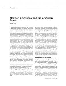 Mexican Americans and the American Dream