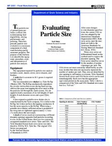 MF2051 Evaluating Particle Size