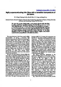 MgB2 superconducting thin films with a transition temperature of 39
