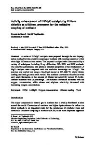 MgO catalysts by lithium chloride as a