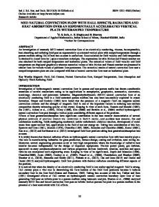 mhd natural convection flow with hall effects, radiation and ... - INDJSRT