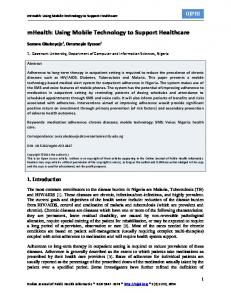 mHealth: Using Mobile Technology to Support ... - BioMedSearch