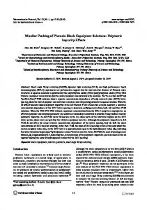 Micellar Packing of Pluronic Block Copolymer Solutions - Springer Link
