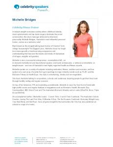 Michelle Bridges - Celebrity Speakers