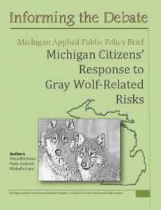 Michigan Citizen's Response to Gray Wolf-Related Gray Risks - IPPSR