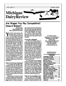 Michigan Dairy Review Vol. 5 No. 4 - Michigan State University