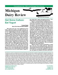 Michigan Dairy Review