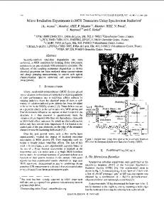 Micro-irradiation experiments in MOS transistors using ... - IEEE Xplore