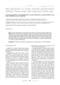 Microabrasion in tooth enamel discoloration defects: three ... - SciELO