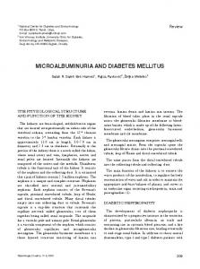 MICROALBUMINURIA AND DIABETES MELLITUS