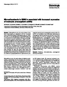 Microalbuminuria in IDDM is associated with increased ... - Springer Link