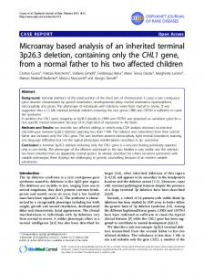 Microarray based analysis of an inherited terminal 3p26.3 deletion ...