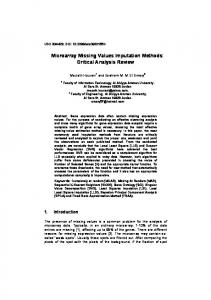 Microarray Missing Values Imputation Methods: Critical Analysis Review