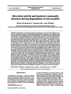 Microbial activity and bacterial community structure during ...
