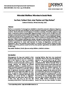 Microbial Biofilms: Microbes in Social Mode - Science Target