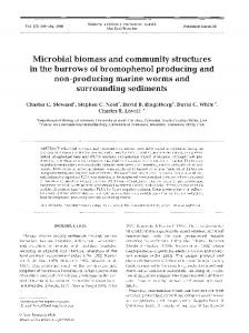 Microbial biomass and community structures in ... - David C. White.org