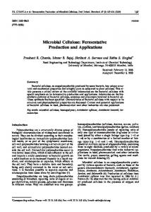 Microbial Cellulose: Fermentative Production and Applications
