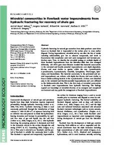 Microbial communities in flowback water ... - Wiley Online Library