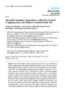 Microbial Community Composition as Affected by Dryland ... - CiteSeerX