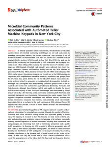 Microbial Community Patterns Associated with