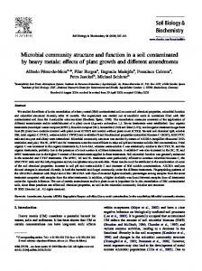 Microbial community structure and function in a soil ...