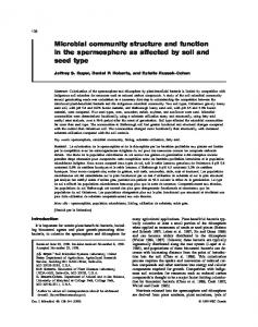 Microbial community structure and function in the ... - Semantic Scholar