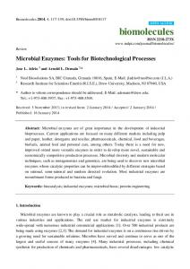 Microbial Enzymes: Tools for Biotechnological ... - BioMedSearch