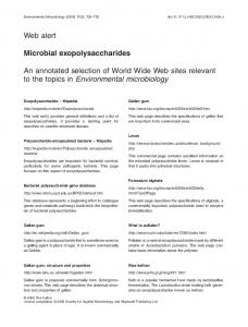 Microbial exopolysaccharides - Wiley Online Library