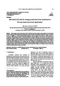 Microbial fuel cells for energy production from ... - Springer Link
