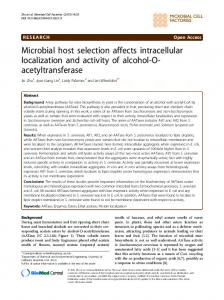 Microbial host selection affects intracellular ... - Semantic Scholar