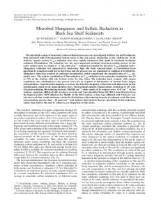 Microbial Manganese and Sulfate Reduction in Black Sea Shelf ...