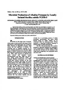 Microbial Production of Alkaline Proteases by Locally Isolated Bacillus ...