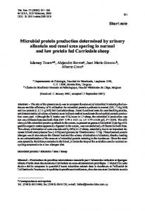 Microbial protein production determined by urinary ... - Semantic Scholar