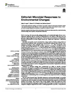 Microbial Responses to Environmental Changes