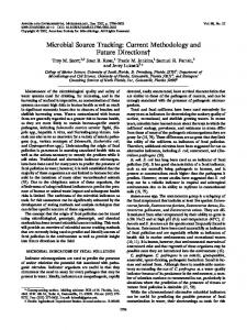 Microbial Source Tracking: Current Methodology and Future Directions†
