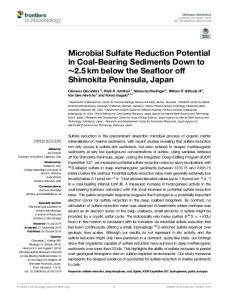 Microbial Sulfate Reduction Potential in Coal-Bearing ... - Core
