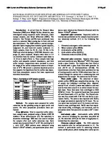 Microbial sulfur isotope depletion and mineralogy of Prospect Mesa ...