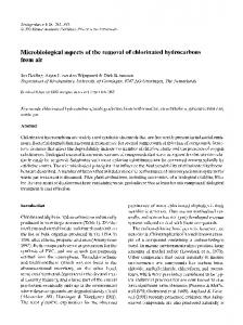Microbiological aspects of the removal of chlorinated ... - Springer Link