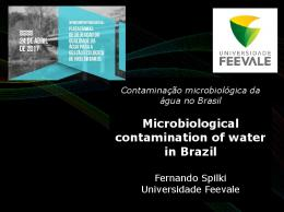 Microbiological contamination of water in Brazil