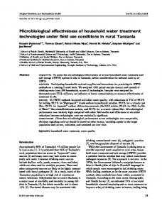 Microbiological effectiveness of household ... - Wiley Online Library