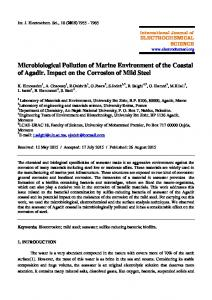 Microbiological Pollution of Marine Environment of the Coastal of ...