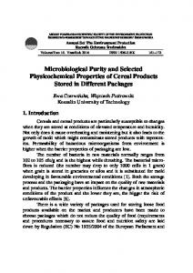 Microbiological Purity and Selected Physicochemical