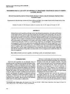 microbiological quality of minimally processed ... - Semantic Scholar