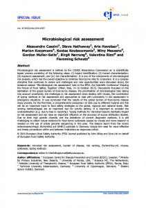 Microbiological risk assessment - Wiley Online Library