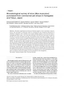 Microbiological survey of mice (Mus musculus) purchased ... - J-Stage