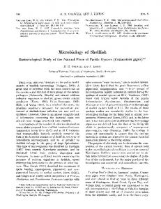 Microbiology of Shellfish - Applied and Environmental Microbiology