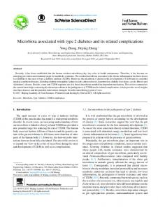 Microbiota associated with type 2 diabetes and its ... - Semantic Scholar