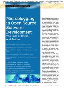 Microblogging in Open Source Software Development: